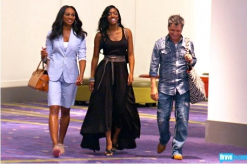 just want to point out what an awesome dress Porsha is wearing... no snark at all.  Cy and Cynthia's ensembles however...