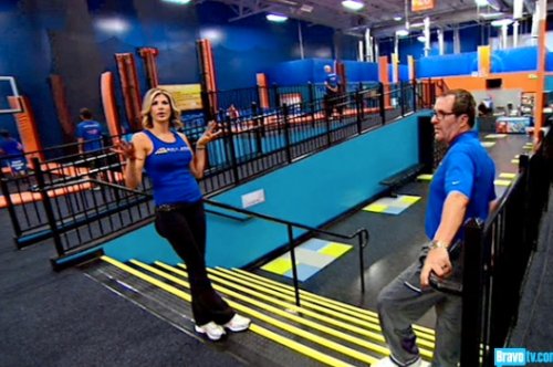 I bet Gretchen wasn't offered a spokeswoman position at a trampoline park.