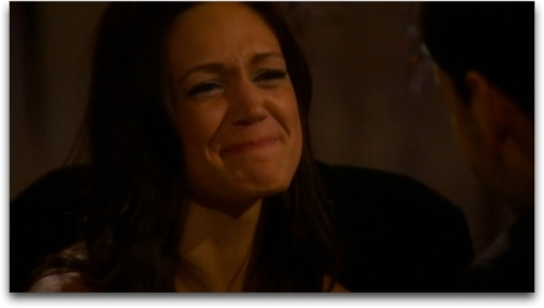The face of a woman in love... or excruciating pain.