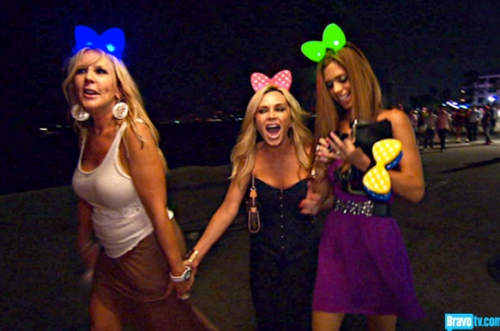 Wait, weren't there 5 of us?  Oh who cares?  We have glow-in-the-dark bows!