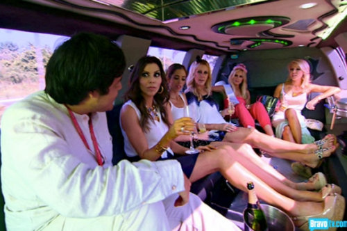 Yeah, if I'm going to be stuck in this limo with you crazy ladies, you had better believe that I'm drinking too.