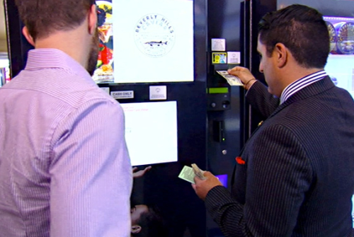 Adam watches his allowance get fed into a caviar machine.