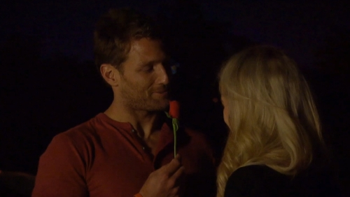 Juan Pablo is impressed by a girl that isn't afraid to bust out the Running Man.