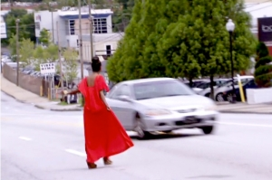 Oh Kenya, it's to a good idea to wave yourself around like a matador's cape in traffic.