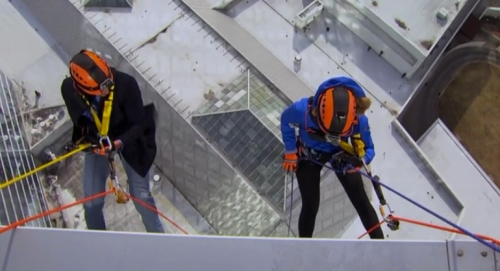 Love means never having to rappel down the side of a building. Someone please tell this to abc.